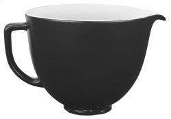 5 Quart Ceramic Bowl - White Chocolate