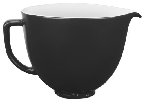 5 Quart Ceramic Bowl - Black Matte