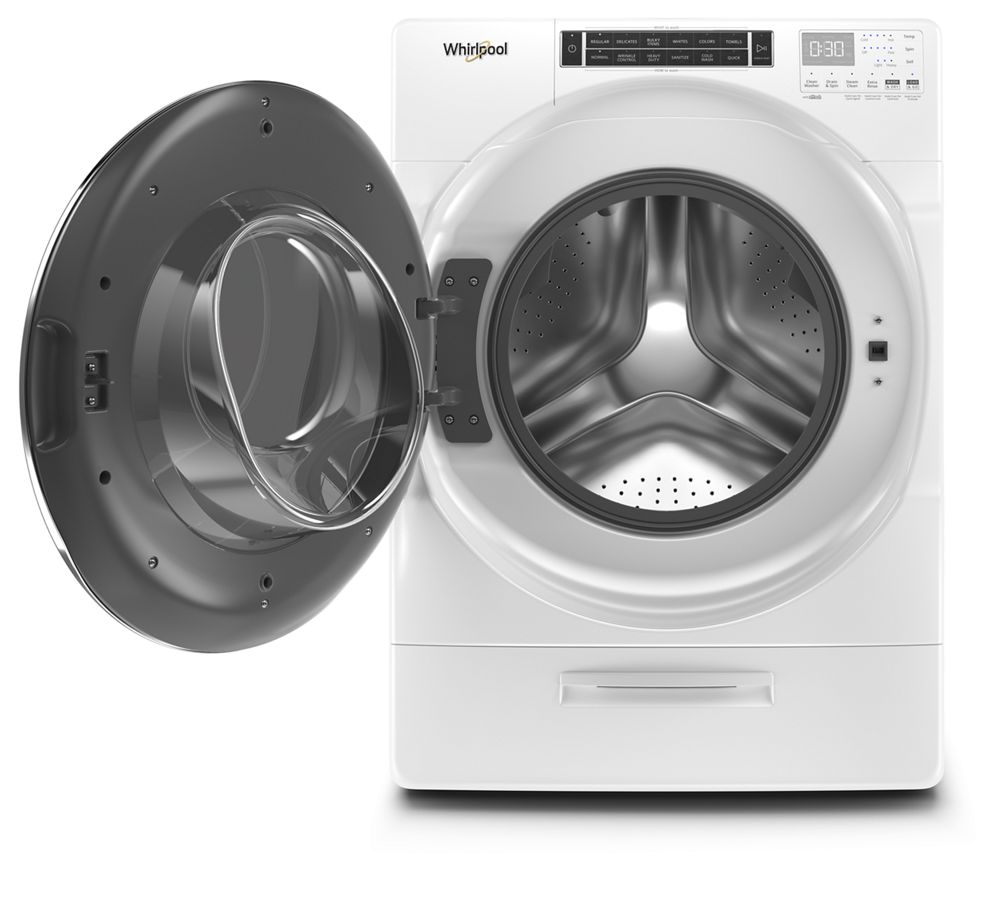 Wfw8620hw Whirlpool 5 0 Cu Ft Front Load Washer With