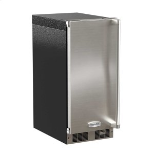 Marvel15-In Professional Built-In Clear Ice Machine With Pump with Door Style - Stainless Steel, Door Swing - Left, Pump - Yes