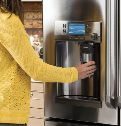 GE Cafe™ Series ENERGY STAR® 22.2 Cu. Ft. Counter-Depth French-Door Refrigerator with Keurig® K-Cup® Brewing System - CLEARANCE ITEM