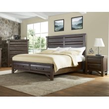 Timber King Bed - Brown