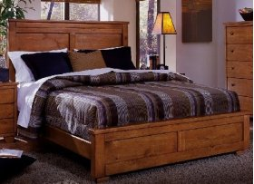 6/6 King Headboard - Cinnamon Pine Finish