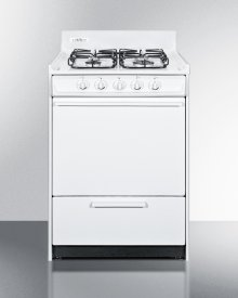 "24"" Wide Gas Range In White With Sealed Burners and Electronic Ignition; Replaces Wnm6107f"
