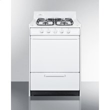 """24"""" Wide Gas Range In White With Sealed Burners and Electronic Ignition; Replaces Wnm6107f"""