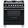"Fisher & Paykel Dual Fuel Range, 30"", 4 Burners, Self-Cleaning"