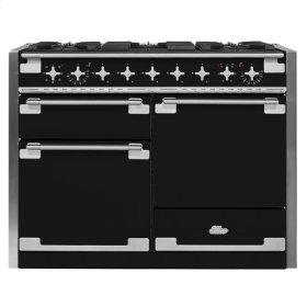 AGA Elise 48 Dual Fuel Matte Black with Chrome trim