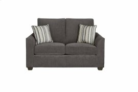 Loveseat - Charcoal Chenille Finish