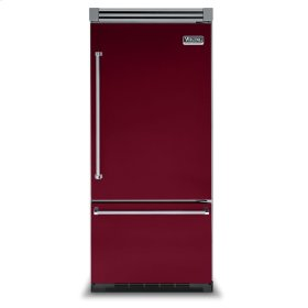 "Burgundy 36"" Bottom-Mount Refrigerator/Freezer - VIBB (Right Door Hinge)"