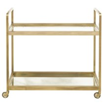 Brushed Gold & Glass Bar Cart
