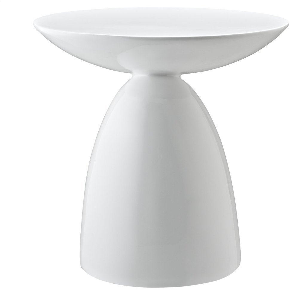 Flow Side Table in White