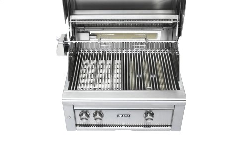"""27"""" Lynx Professional Built In Grill with 1 Trident and 1 Ceramic Burner and Rotisserie, NG"""