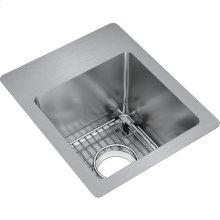 """Elkay Crosstown Stainless Steel 13"""" x 16"""" x 9"""", Single Bowl Dual Mount Sink Kit"""