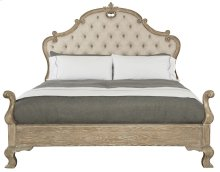 King-Sized Campania Upholstered Panel Bed in Campania Weathered Sand (370)