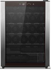 Wine Chiller, black case with full stainless door trim, 23-bottle capacity