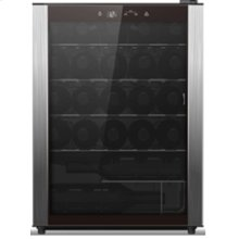 Wine Chiller, black case with full stainless door trim, 23-bottle capacity