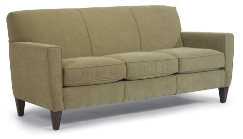 Digby Leather Three-Cushion Sofa
