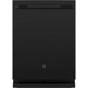 GE(R) Stainless Steel Interior Dishwasher with Hidden Controls - BLACK