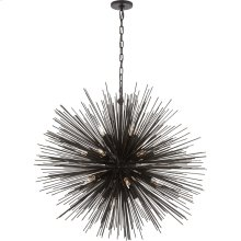Visual Comfort KW5072AI Kelly Wearstler Strada 20 Light 40 inch Aged Iron Pendant Ceiling Light, Kelly Wearstler, Large, Round