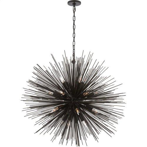 Visual Comfort KW5072AI Kelly Wearstler Strada 20 Light 40 inch Aged Iron Pendant Ceiling Light, Kelly Wearstler, Large, Round