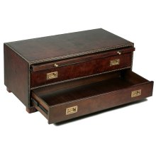 Gentleman's Fine Leather Chest/Low Table