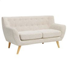 Remark Upholstered Fabric Loveseat in Beige