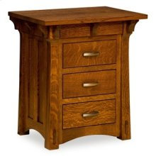 Mayberry 3 Drawer Nightstand