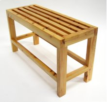 """AB4401 26"""" Solid Wood Slated Single Person Sitting Bench"""