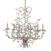 Crystal Bud Silver Medium Chandelier