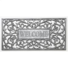 Welcome Filigree Rectangle Mat French Bronze