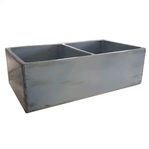 """Kinsey 33"""" Double Bowl Farmer Sink - Sugar Paper Blue Product Image"""