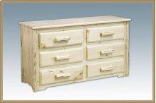 Montana Log 6 Drawer Dresser