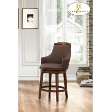 Swivel Counter Height Chair, Chocolate Fabric