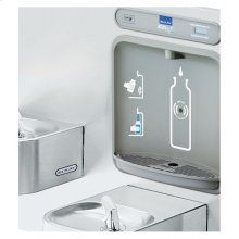 Elkay EZH2O Bottle Filling Station & Integral Soft Sides Fountain, Non-Filtered Non-Refrigerated Stainless