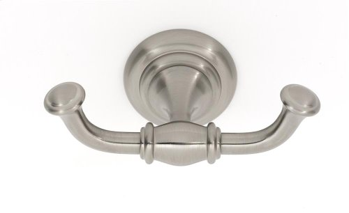 Charlie's Collection Double Robe Hook A6784 - Satin Nickel