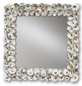 Oyster Shell Mirror - 20h x 2d x 20w