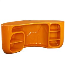 Impression Fiberglass Desk in Orange
