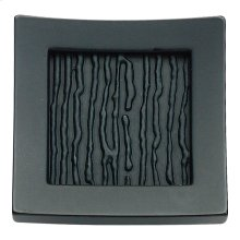 Primitive Square Knob 1 1/2 Inch - Matte Black