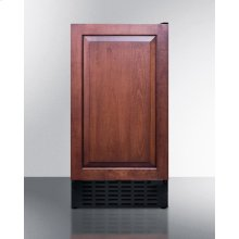 "18"" wide ADA compliant solid door commercial beverage cooler w/integrated frame for overlay panels; built-in or freestanding"