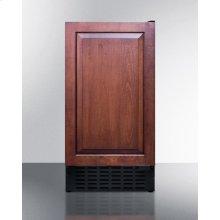"18"" wide ADA compliant solid door commercial beverage cooler w/integrated frame for overlay panels; built-in or freestanding"