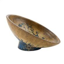 Textured Black Angle Cut Fruit Bowl