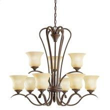Wedgeport 9 Light Chandelier with LED Bulbs Olde Bronze®