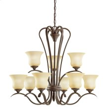 Wedgeport 9 Light Chandelier with LED Bulbs Olde Bronze®