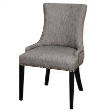 Charlotte Fabric Chair Black Legs, Shark