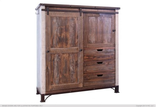3 Drawer, 1 Sliding door, 1 Door Gentleman's Chest