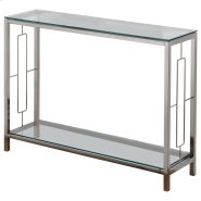 Athena Console Table in Chrome Product Image