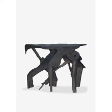 """47"""" Organic Root Console Table In Grey Wash (47x20x35)"""