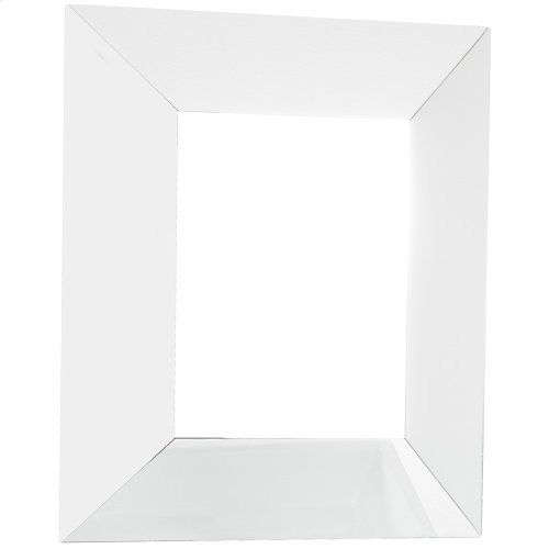 """24"""" x 28-1/4"""" Five-piece all glass mirror with wide bevel frame."""