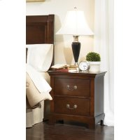 Tatiana Transitional Two-drawer Nightstand Product Image