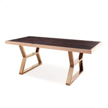 Tula Wood Gold Metal Dining Table